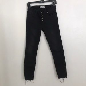 Free people button fly skinny jeans